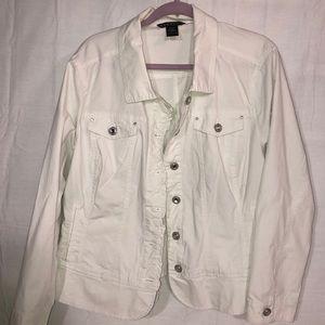 Baccini Women's White Jacket Size 22/24